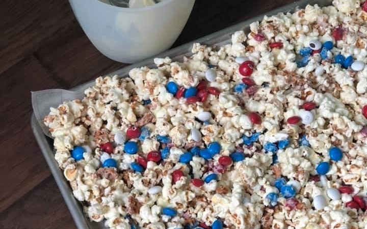 Patriotic Popcorn Bark